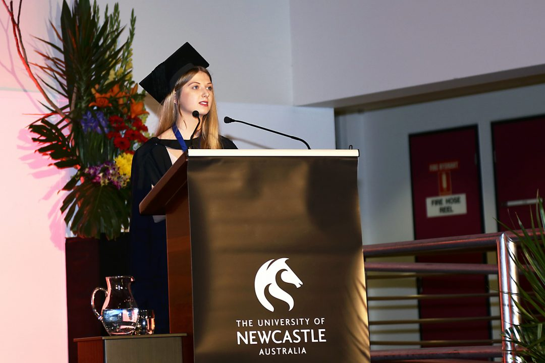 Speaking at Podiatry Graduation Ceremony